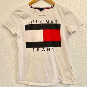 Tommy Hilfiger logo graphic tee short sleeve Small